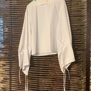 Joie NWT white blouse beautiful sleeves size med